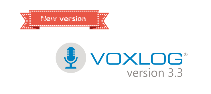 New version : Voxlog 3.3